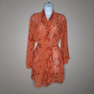 VICTORIA'S SECRET floral chiffon kimono/robe